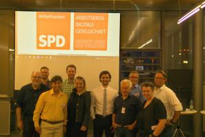 Die neugewählten Sprecher*innen des AK Digitale Gesellschaft der SPD Mittelfranken