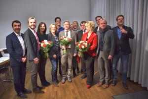 Die Landtagskandidatinnen und -kandidaten mit Natascha Kohnen
