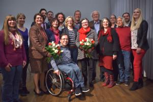 Die Bezirkstagskandidatinnen und -kandidaten mit Natascha Kohnen