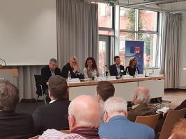 Die Impulsgeberinnen und Impulsgeber: Prof. Dr. Thomas Beyer, Günter Gloser, Kerstin Westphal MdEP, Dr. Benjamin Braun und Barbara Münzel