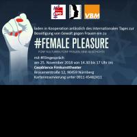 Einladungsplakat zur Veranstaltung Female Pleasure